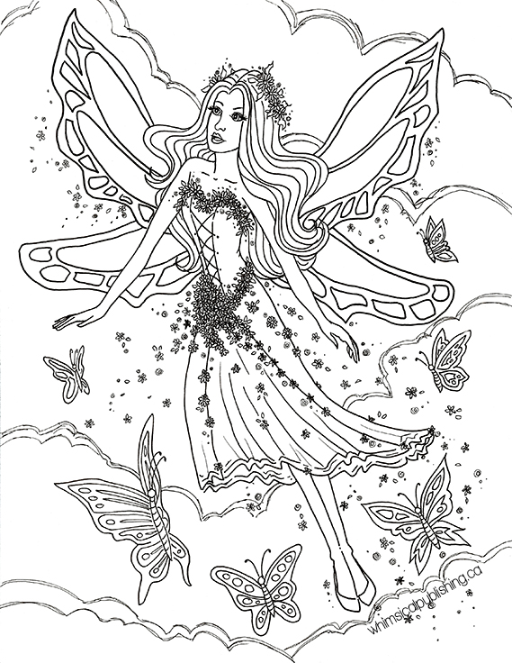 free online fairy coloring pages - photo#20