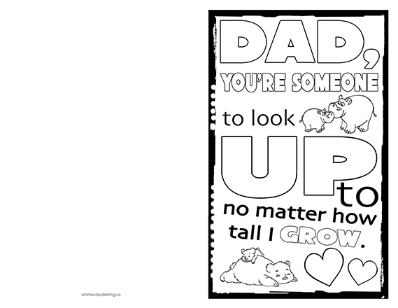 Fathers Day Card To Print Amp Colour