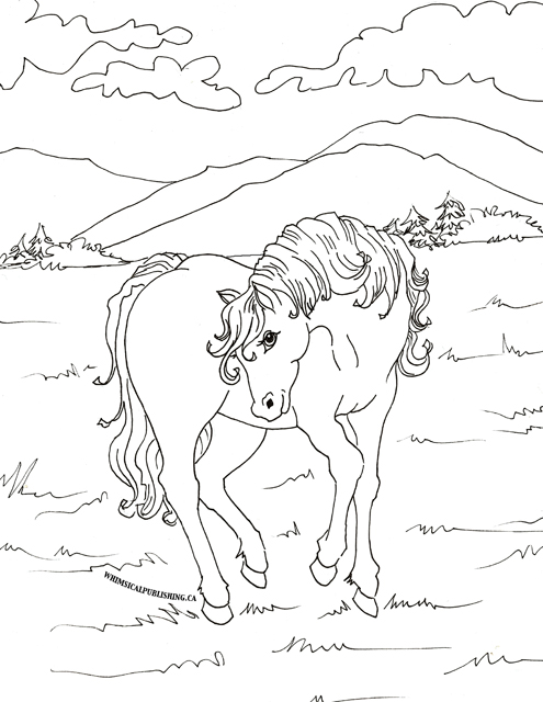horse coloring small pages - photo#14