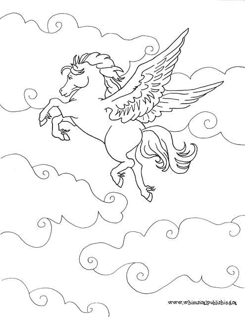 free pegasus coloring pages - photo#18
