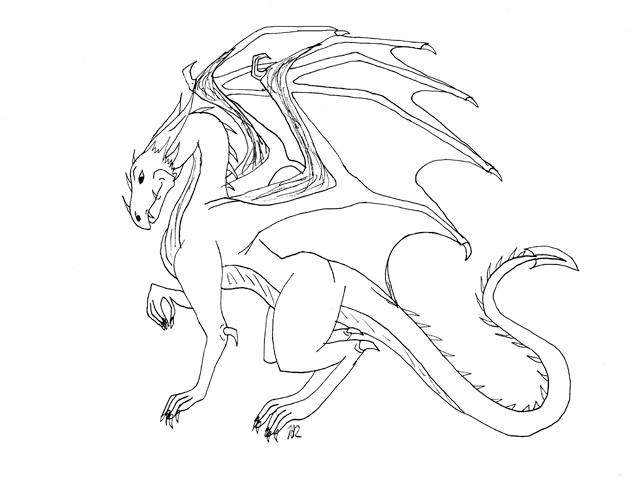 Hard dragon coloring pages gallery for Hard coloring pages of dragons