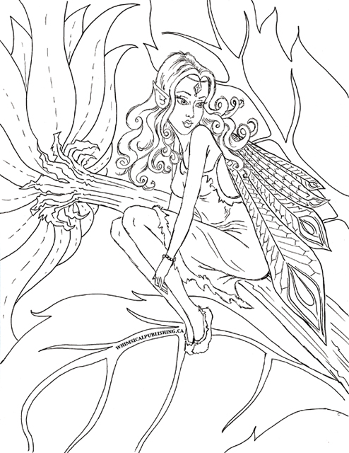Fairy Colouring Page-small