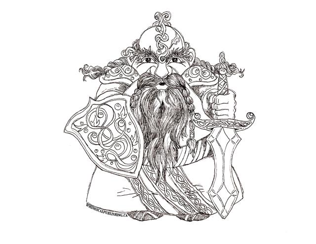 free coloring page dwarf king
