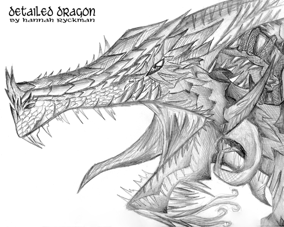 how to draw a dragon step by step realistic