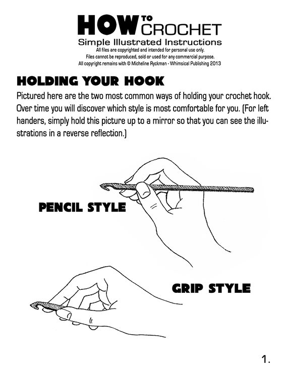 Instructions On How To Crochet : ... > How to Crochet - Page 1 DOWNLOAD > How to Crochet - Page 2