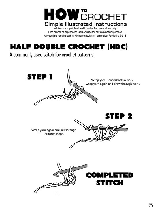 How To Crochet Different Stitches : ... > How to Crochet - Page 1 DOWNLOAD > How to Crochet - Page 2