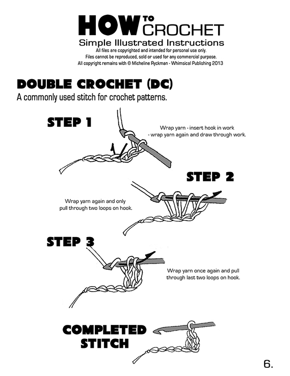 Crocheting Directions : ... > How to Crochet - Page 4 DOWNLOAD > How to Crochet - Page 5