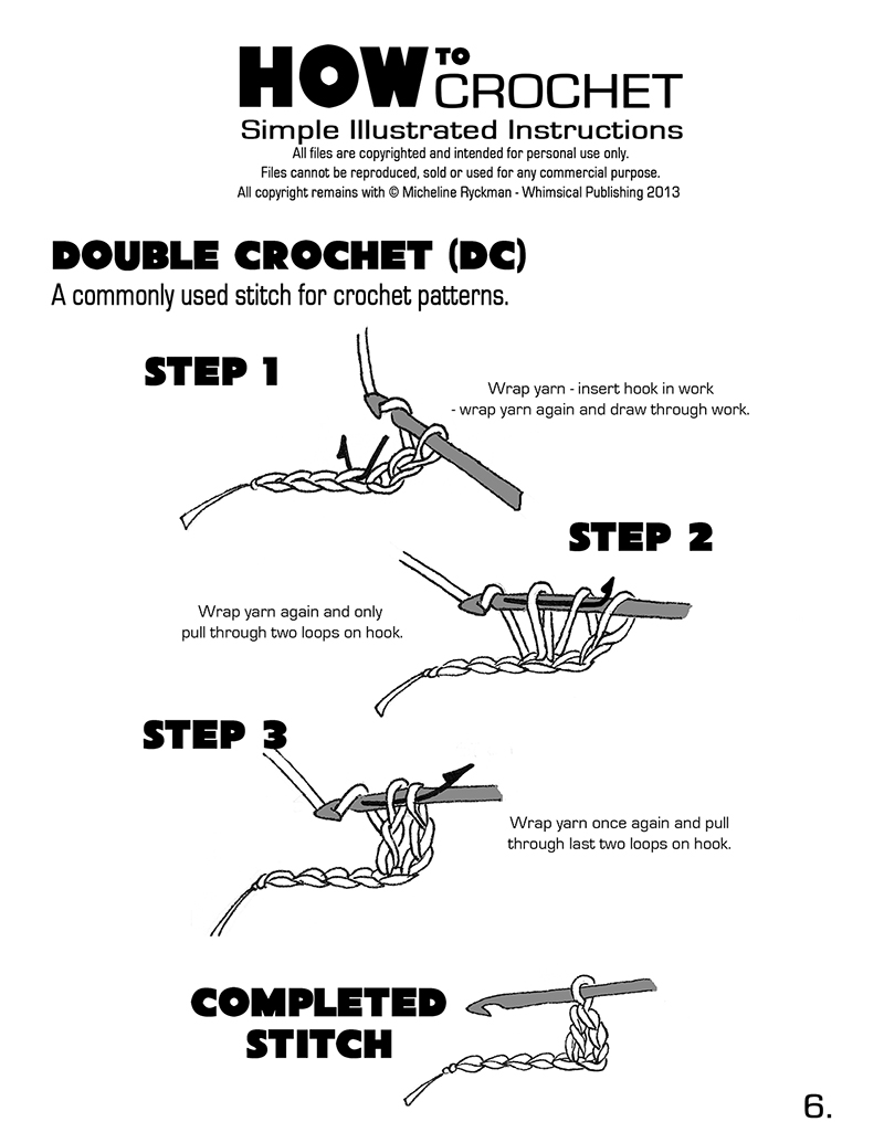 How To Crochet Different Stitches : ... > How to Crochet - Page 4 DOWNLOAD > How to Crochet - Page 5