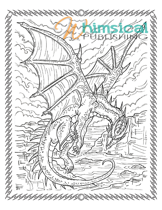 hayden wolf dragon small dragon4 - Challenging Dragon Coloring Pages