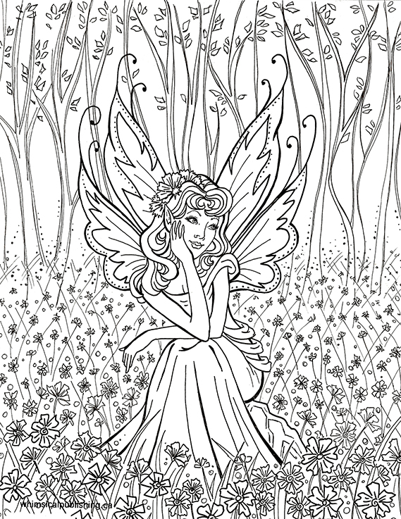 Hard Fairy Coloring Pages