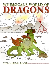 "From Saint George and the Dragon to Puff the Magic Dragon and Cressida Cowell's modern-day book series, How to Train a Dragon, the lore of dragons passes from one generation to the next. Fearsome, magical and majestic they still have the power to thrill us, scare us and entertain us.SneakPeek2 Designed to delight and inspire, this book also includes a step-by-step guide to budding artists and dragon enthusiasts everywhere to create and colour their own magical creatures. Whimsical's World of Dragons is a high quality, soft cover, 8.5"" x 11"" colouring book printed with a full color high gloss cover. There are 24 full page dragon illustrations to colour and a one page spread on how to draw your own dragon."