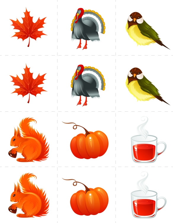 "Autumn Theme ""Memory"" Playing Cards"