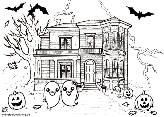 haunted house colour pg download and print haunted house colouring page
