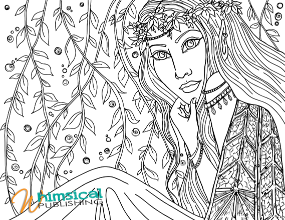 fairies coloring pages book - photo#43