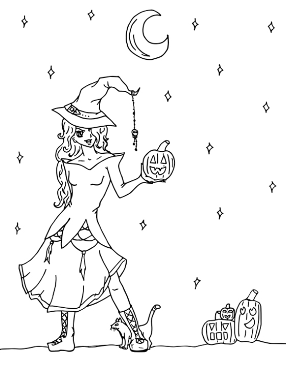 halloween colouring pagejpg