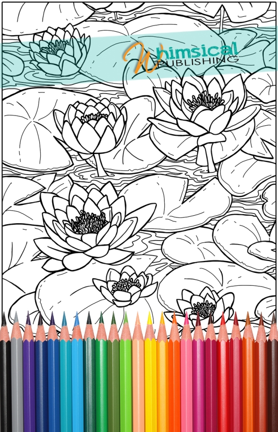 waterlilies_small - Monet Coloring Pages Water Lilies